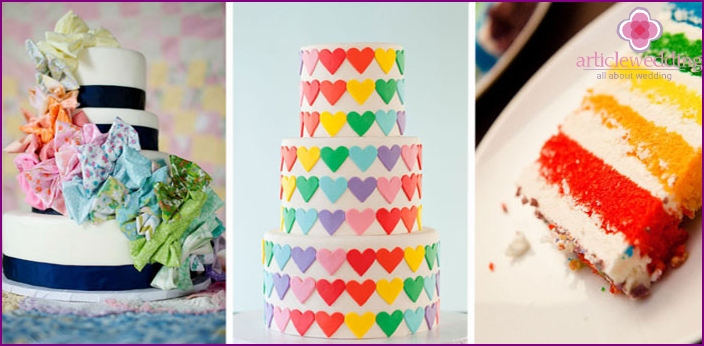 Ideas rainbow wedding cakes