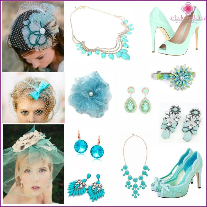 Bride Mint accessories