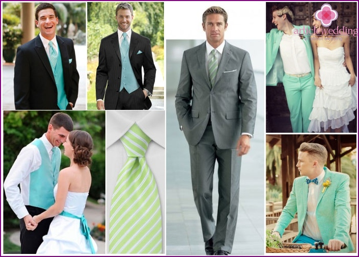 Mint groom suit
