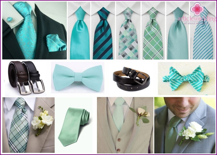 Groom Mint accessories