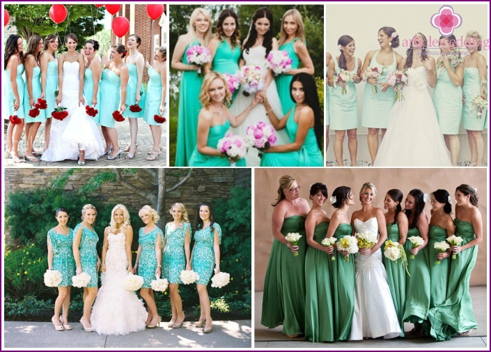 Examples mint dresses bridesmaids