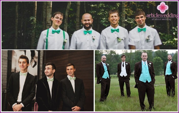 Examples mint groomsmen outfits