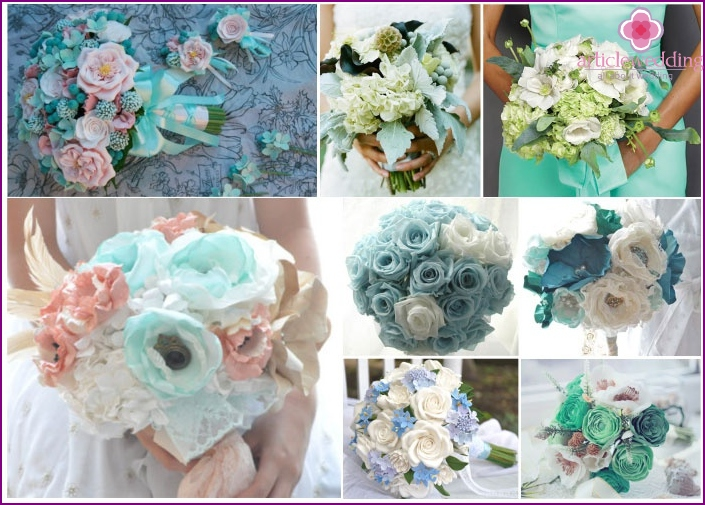 Options mint bouquet bride