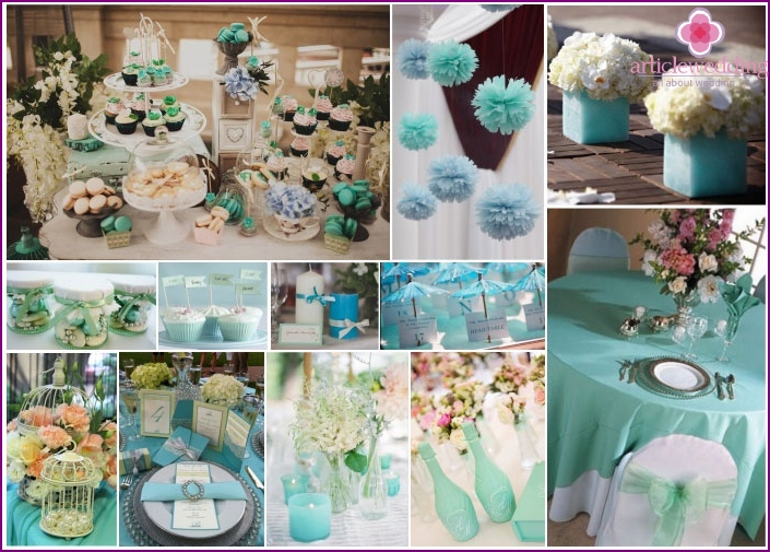 Making a banquet hall in mint colors
