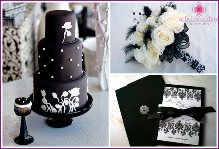 Accessories for wedding black