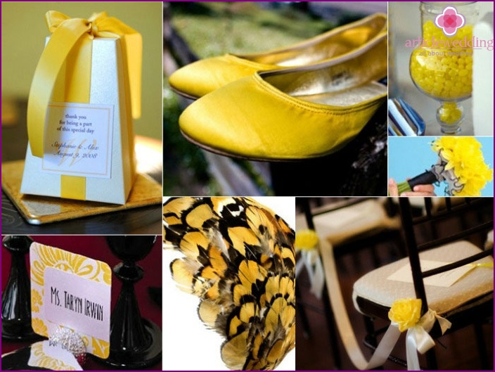 Ideas for the yellow and black wedding