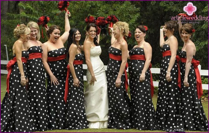 Dress code for the polka-dot theme wedding