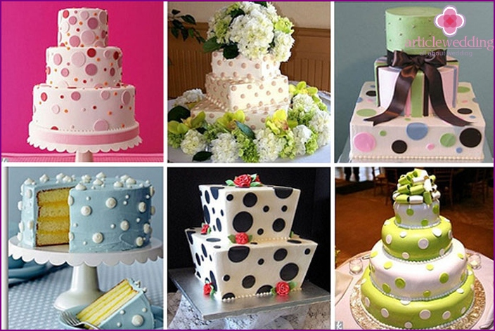 Original wedding cakes for the wedding polka dots