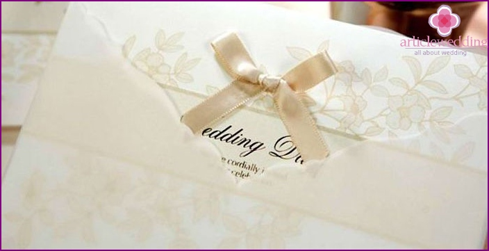 Wedding invitations ivory