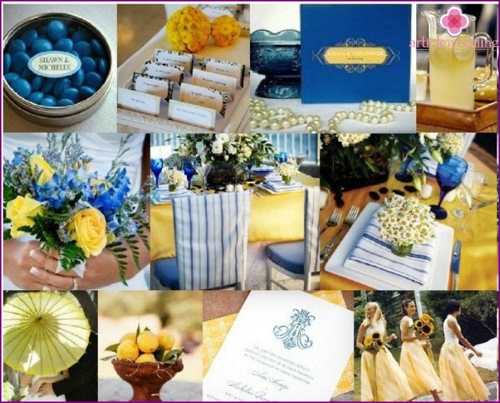 Yellow-blue wedding