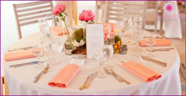 Decoration wedding room Coral