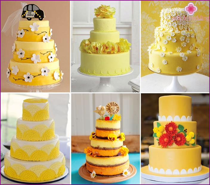 Wedding cakes with honey style