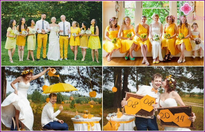 Ideas for photo shoot the newlyweds on a honey festival