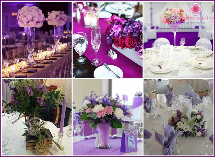 Lavender wedding table decor