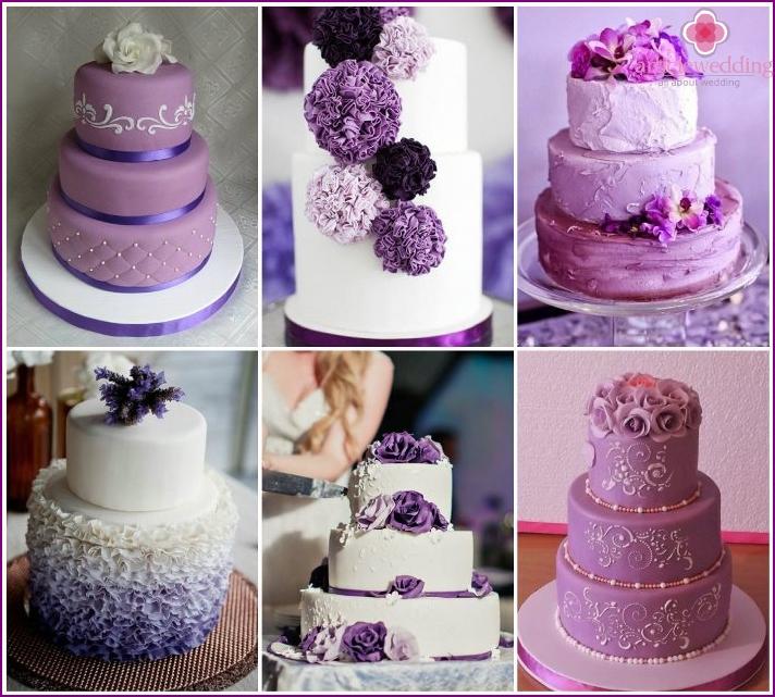 Cake lilac wedding