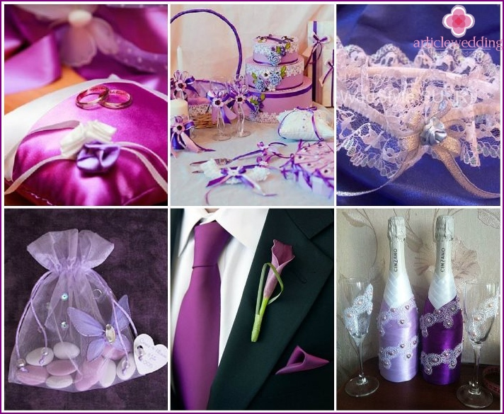 for purple wedding accessories