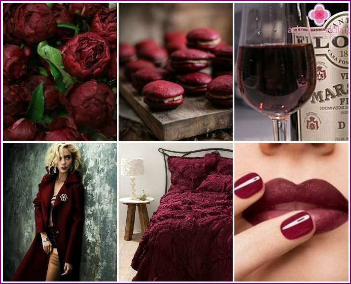 color palette Marsala