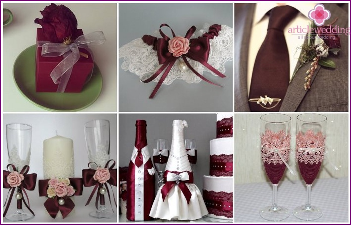Marsala Wedding Accessories