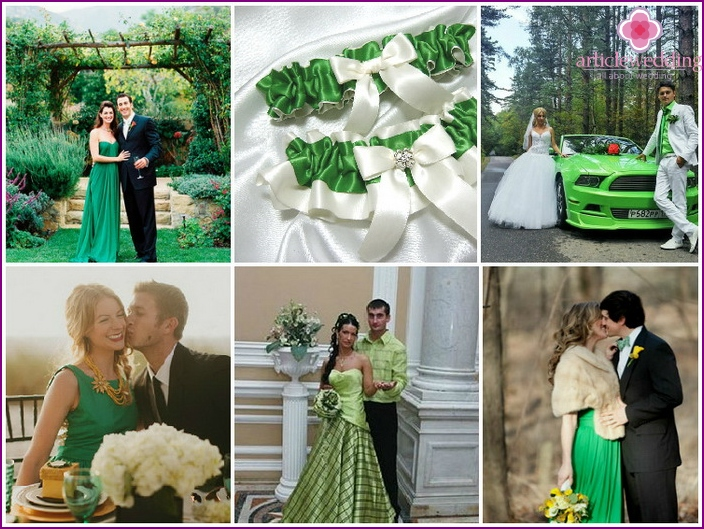 Wedding image in green