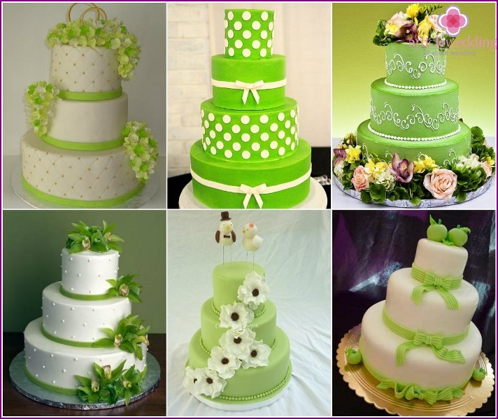 Wedding Cakes green hue