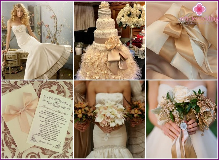 Neutral beige - the perfect choice for a wedding