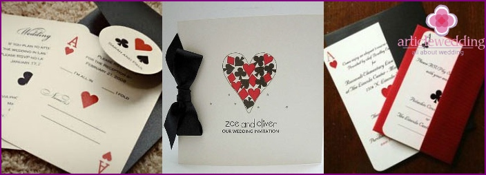 Ways to design the wedding invitation style casino