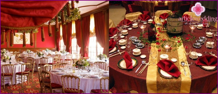 Luxury room for a celebration in a gypsy style