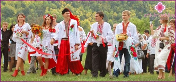 Wedding celebration in Ukrainian style