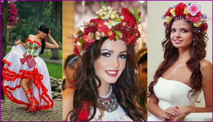 The image of the bride at the Ukrainian wedding