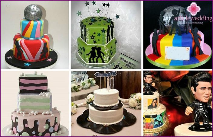 Examples of wedding cakes Disco