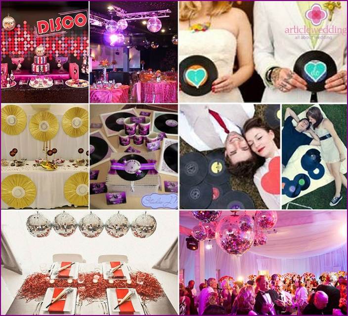 Wedding disco decor