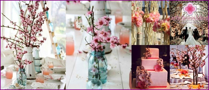 decor options for the celebration in the Japanese style