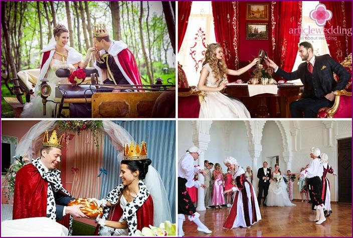 Theme wedding photo shoot for a king