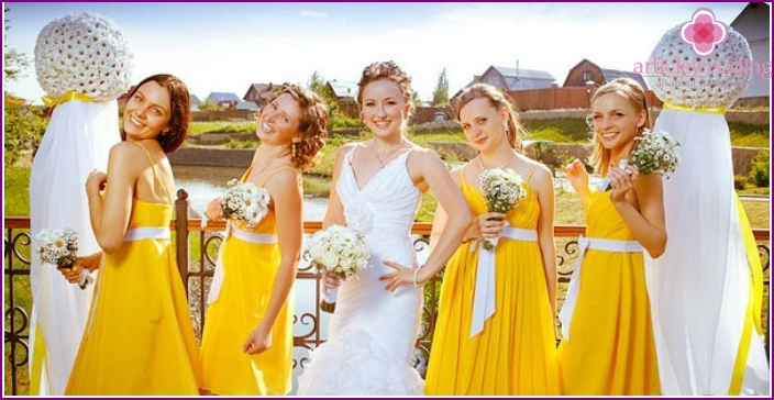 Dress code bridesmaids wedding-daisies