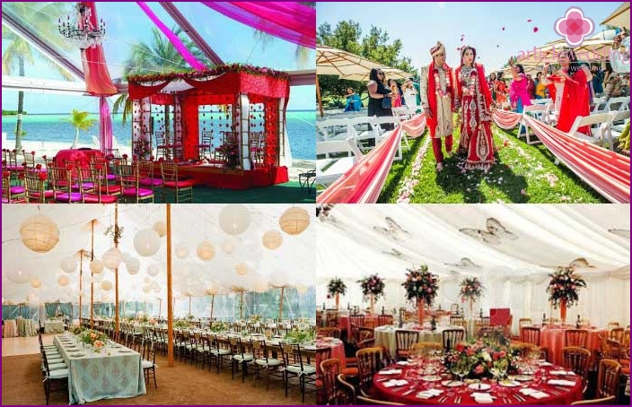 Indian wedding under a tent