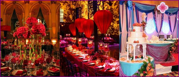 Restaurant Indian wedding decoration
