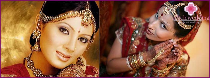 Appearance Bride in Indian style