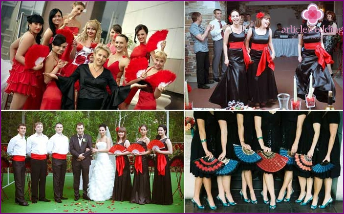 Themed outfits for Spanish wedding guests