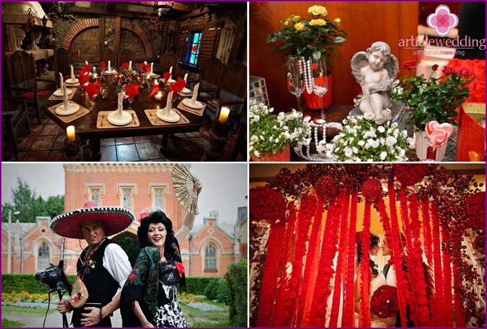 Spanish style involves a spectacular wedding decoration