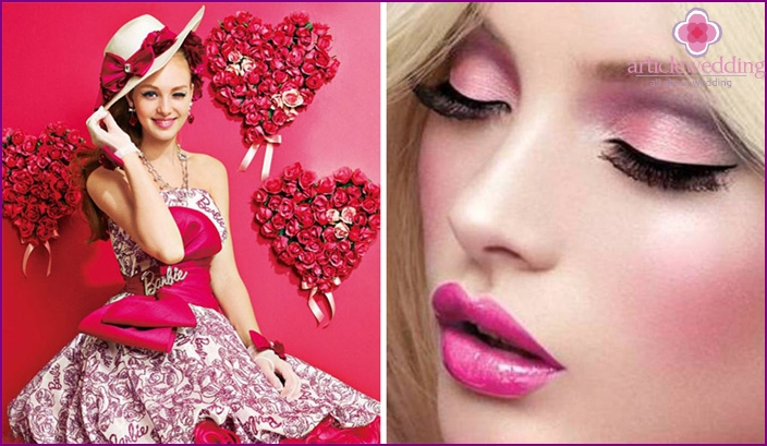 Traditional color style Barbie