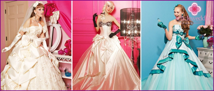 Dress for a wedding in the style of Barbie