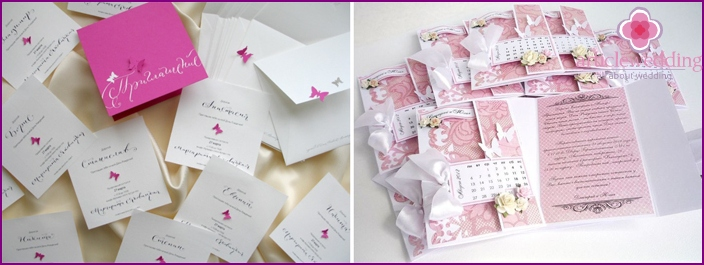 Invitation cards in the style of Barbie
