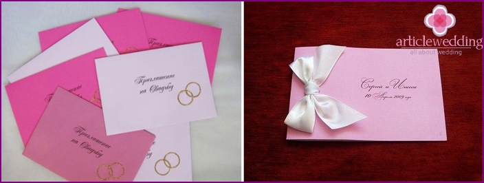 Invitations to a wedding in the style of Barbie