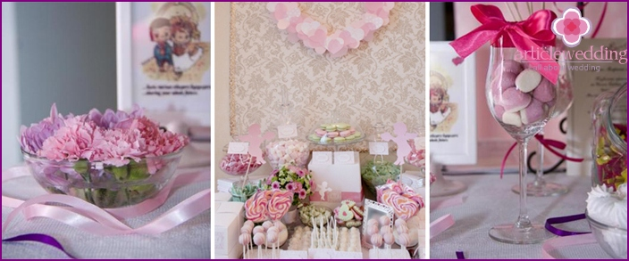 Wedding decoration in the style of Barbie