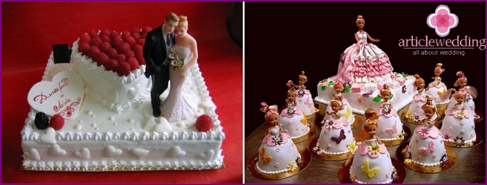 Wedding cake for the bride-Barbie