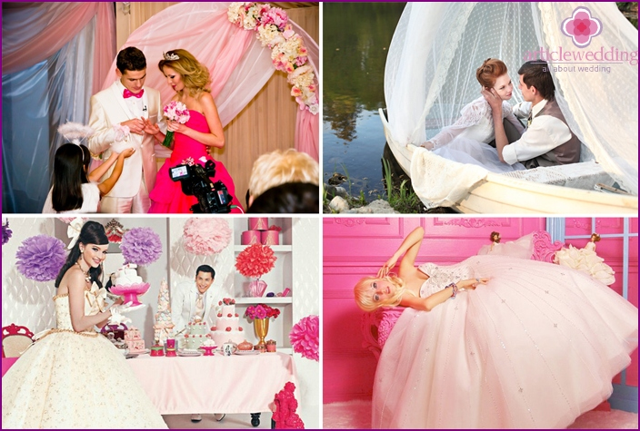 Thematic photo shoot in the style of Barbie}
