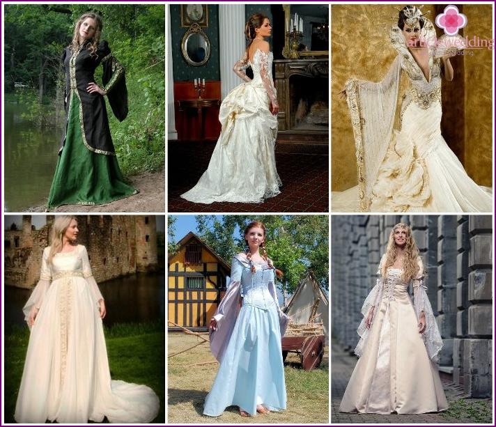 Attire medieval bride