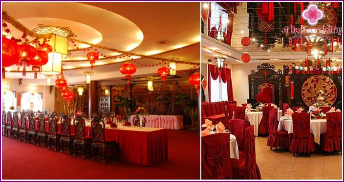 Banquet halls for organizing weddings in China