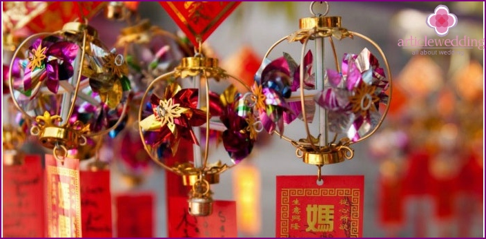 Beautiful decorations for the Chinese wedding