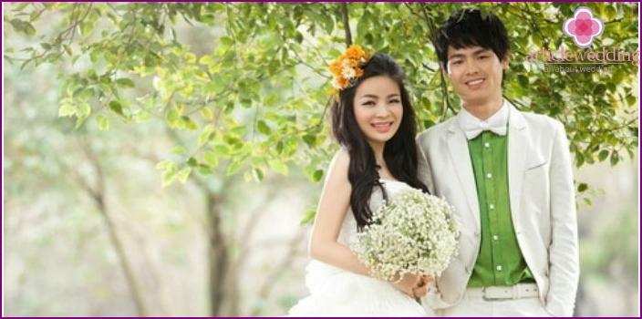 Wedding photos in China